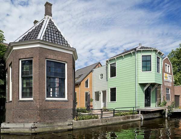 Het atelier van Claude Monet aan de Zaan in Zaandam, Nederland