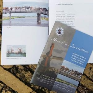 Monet in Zaandam boekje met gedichte, foto's en tekeningen